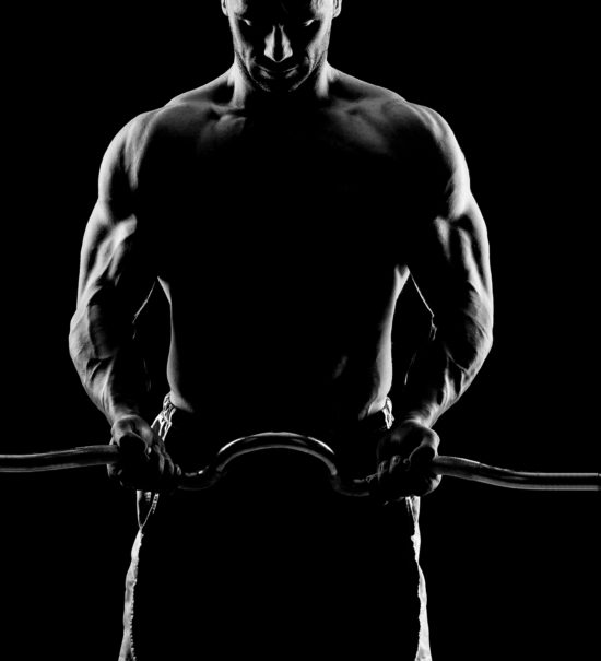 Lifting Weights Over Dark Background fitness, workout, strength, training, biceps, strong, sport, guy, working, weightlifting, power,