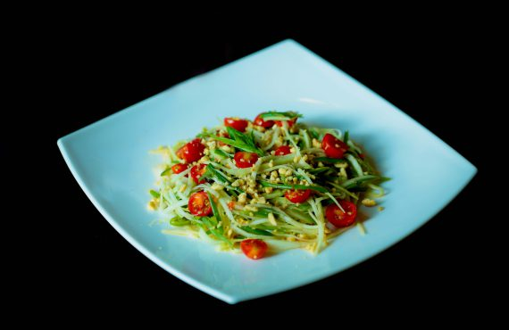 Summer Salads: raw papaya salad