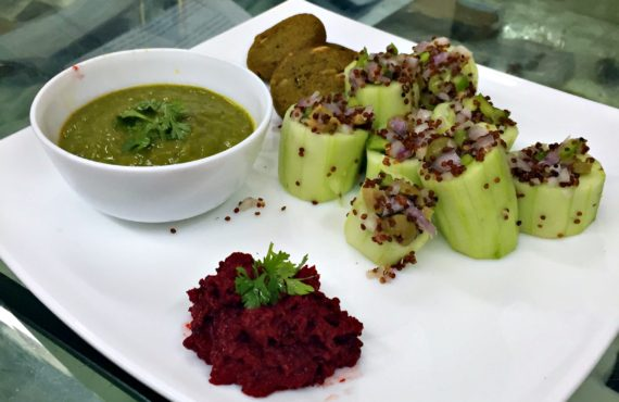 Foreverfit- Airfried Kebabs with Quinoa Salad and Beetroot Dip - 2